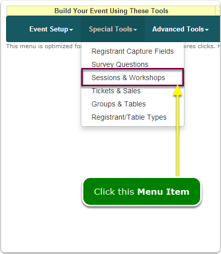 If Menus, your Session tool is located here ...