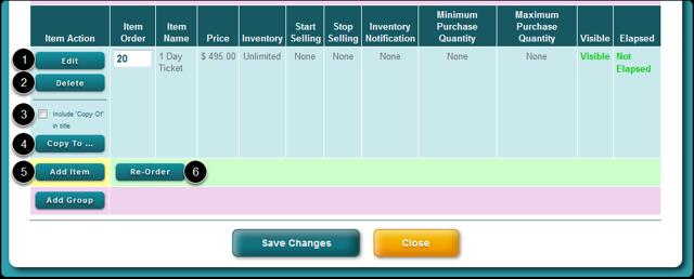 Review Sales Item Details