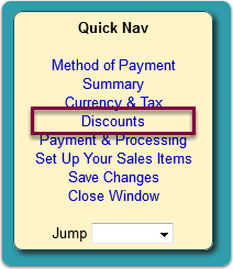 The Sales Wizard screen opens ...