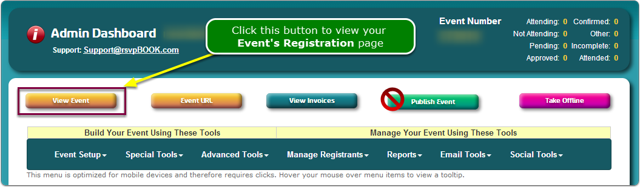 If Menus, then click the View Event button.