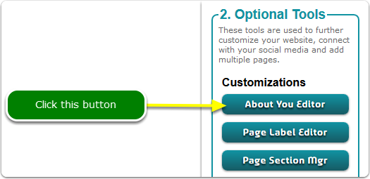 If Buttons, your About You Editor tool is located here ...