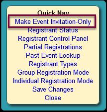 The Advanced Registration window opens...