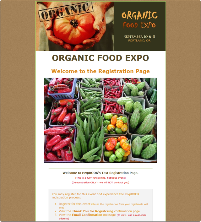 An Organic Food Expo