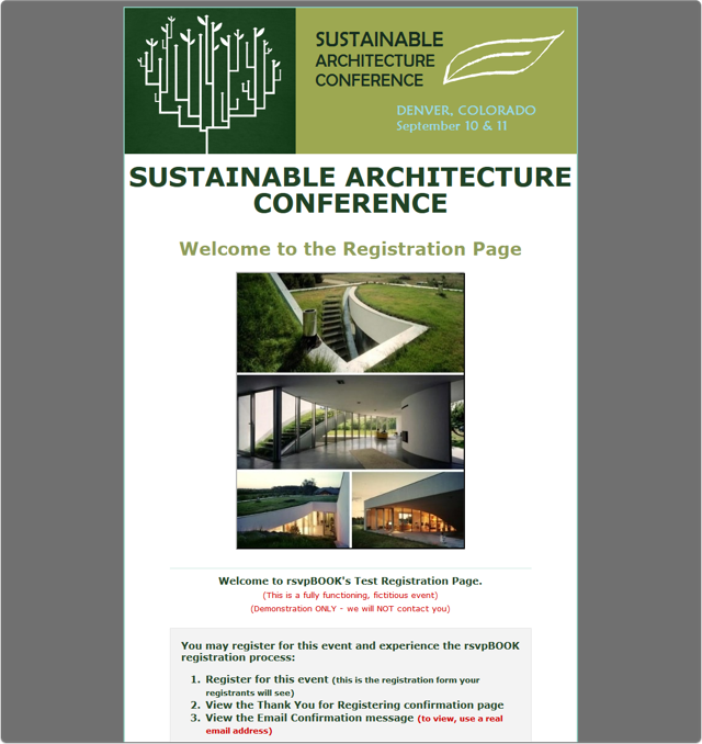 A Sustainable Architecture Conference