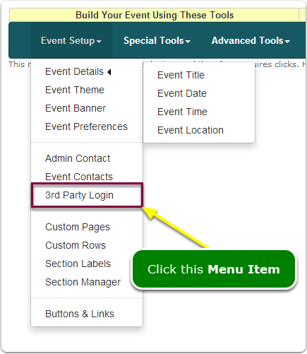 If Menus, then your Admin Dashboard Login tool is located here ...