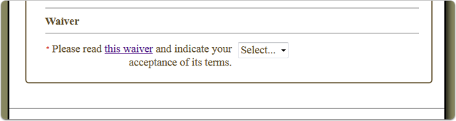 What does this question look like on the registration page?