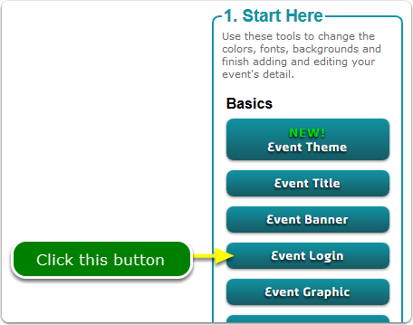 If Buttons, your Event ID and Password tool is located here ...