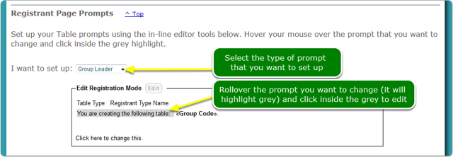 2. Set up your Registration Page Prompts