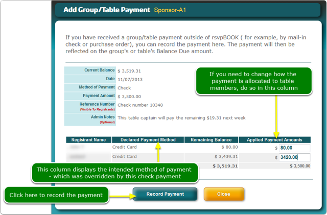 Verify the payment amount and the allocation of the payment ...