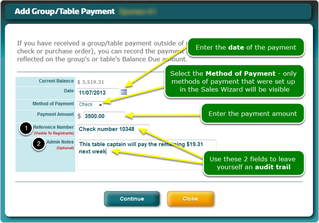 The Add Payment screen opens ...