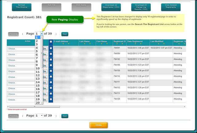 NEW: Registrant List: improved performance