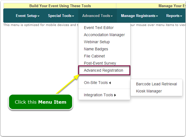 If Menus, your Invitation-Only tool is located here ...