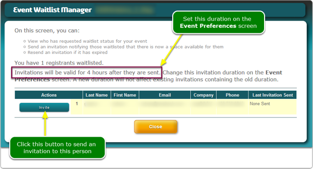 How do I process waitlisted registrants?