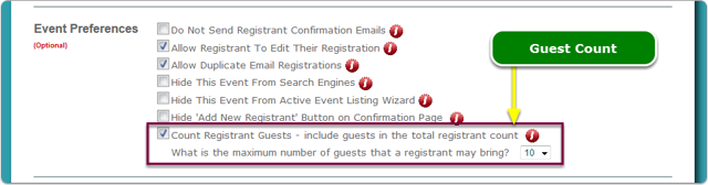 NEW: Guest Count included in Total Registrant Count