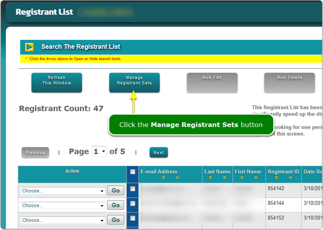NEW: Bulk editing added to Registrant Sets.