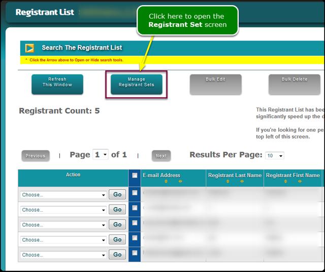 Bulk Edit using a Registrant Set.