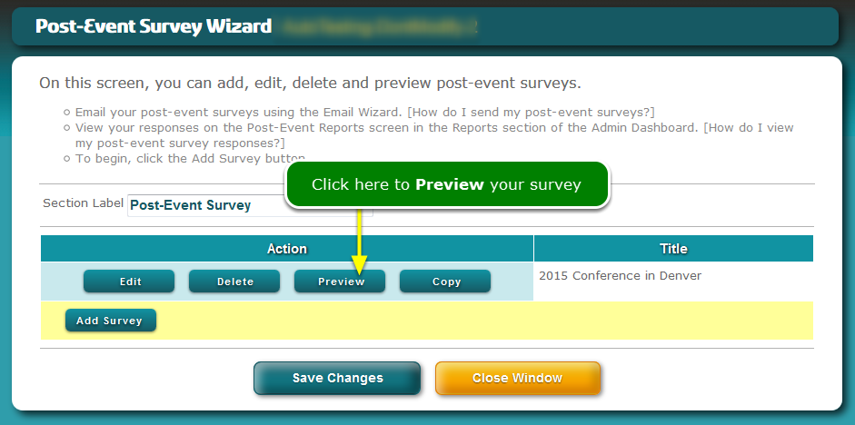 Now preview your survey.
