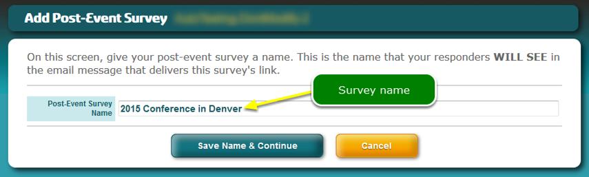Name the survey ...