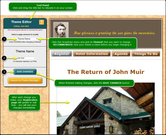 Open the Theme Editor tool ...