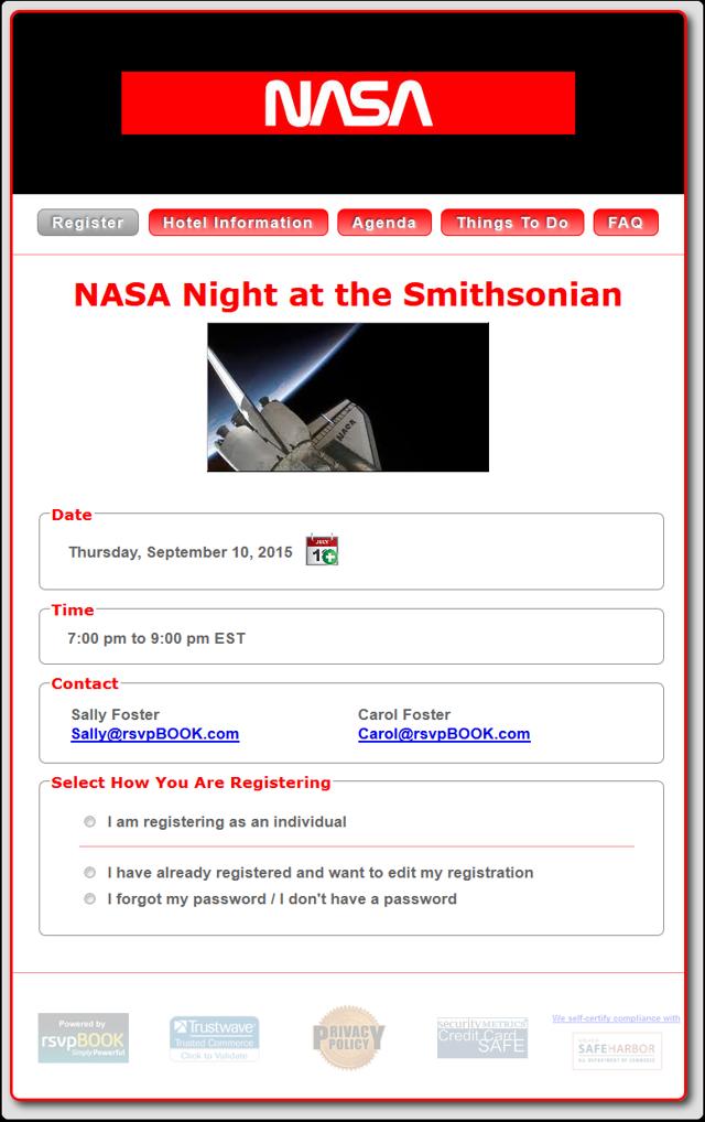 Example 3b - NASA Night at the Smithsonian (Fixed Width)