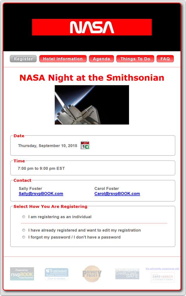 Example 3b - NASA Night at the Smithsonian (Fixed Width)