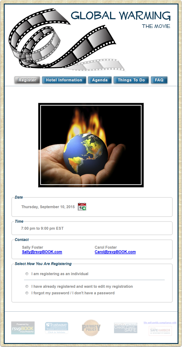 Example 1b - Global Warming - The Movie (Fixed Width)