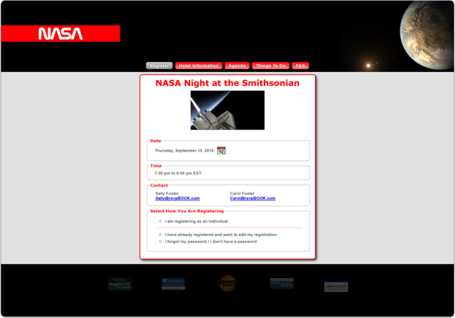 Example 3a - NASA Night at the Smithsonian (100% Width)