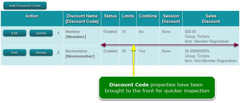 Discount Codes