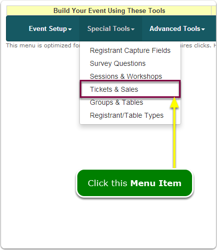 If Menus, your Sales Wizard tool is located here ...
