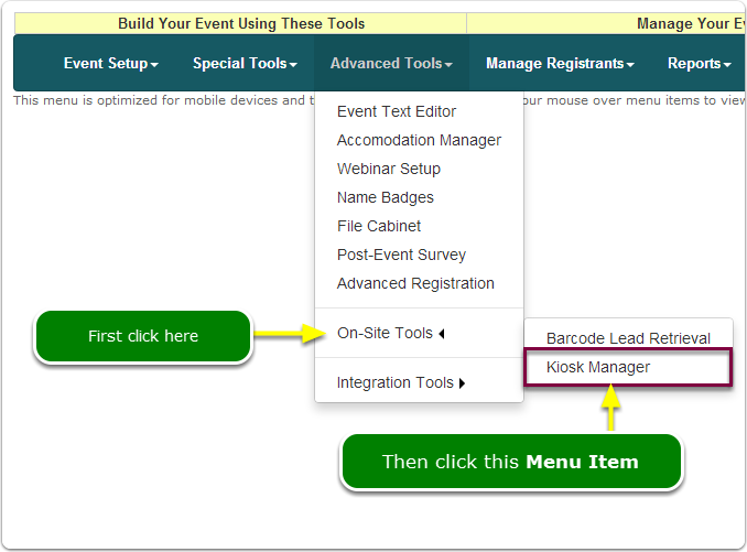 If Menus, your Kiosk Mode tool is located here ...