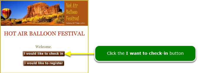 """This is the Kiosk Landing page ... (the """"Start Over"""" page)"""
