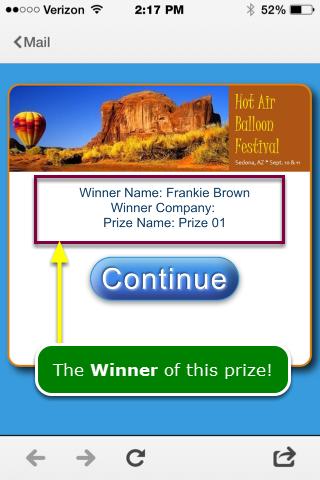 Winner is displayed ...