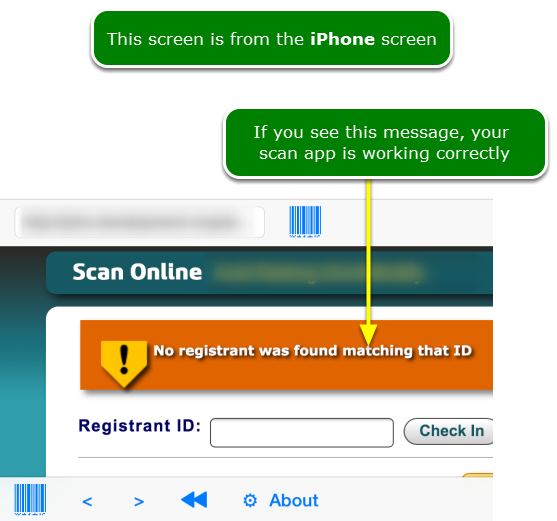 How to test the scan app after set up ...