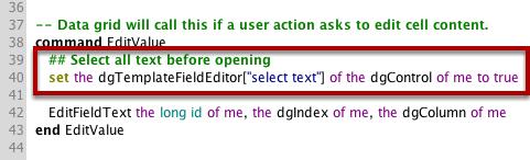 An Example Script