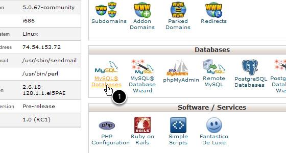 Manage Databases