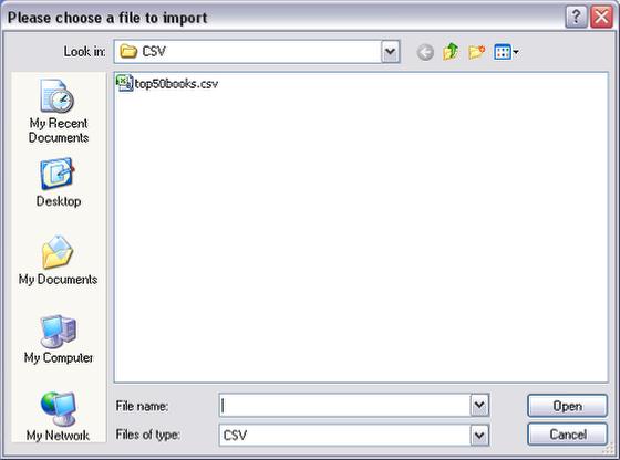 Script the import button