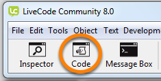 Opening the Code Editor