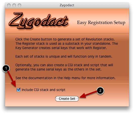 Create a registration set