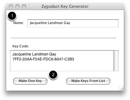 Create serial keys with Key Generator