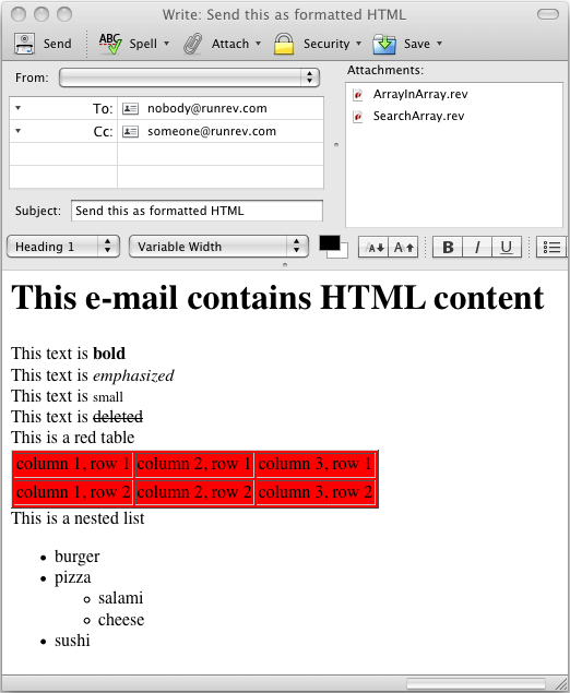 Launching the Compose Window