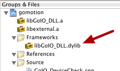 Step 1: Drag the library into your XCode project