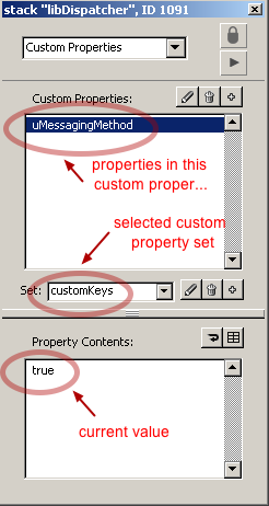 Select a custom property set