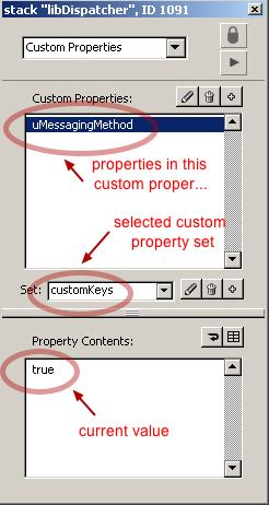 Select a custom property set