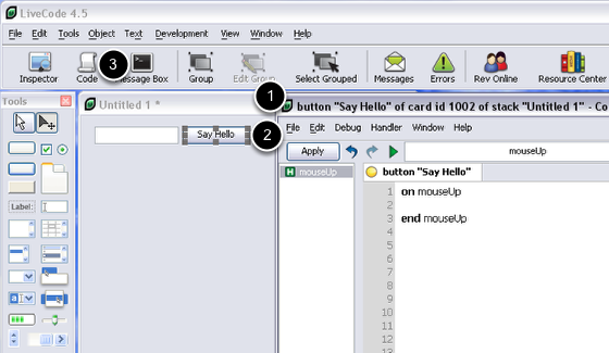 Adding scripts to controls