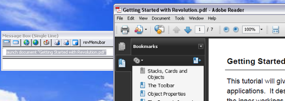 Launching a PDF in an external viewer