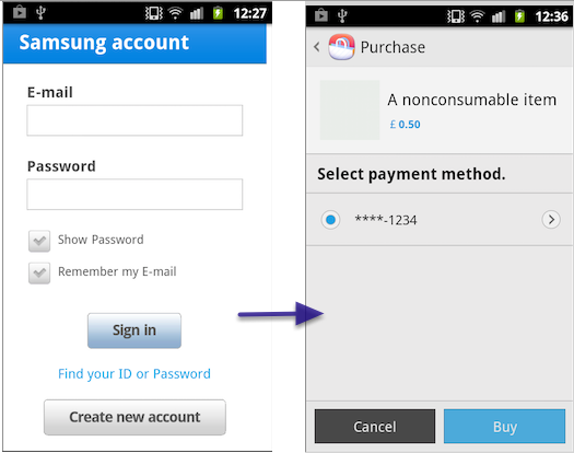 2. Setting up a stack to access in-app purchases