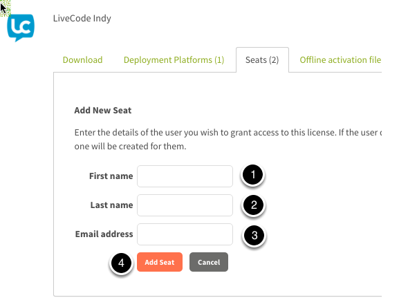 Enter the user details