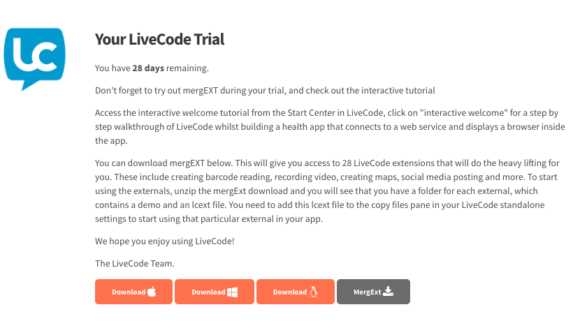 Downloading your Trial (trial users)