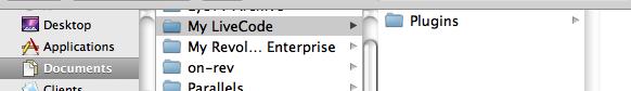 Creating the default plugins folder for LiveCode