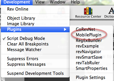 Restart LiveCode to load your plugins